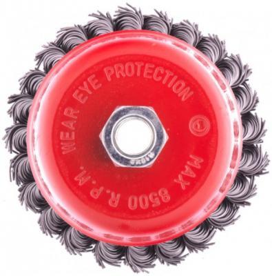 щетка для ушм elitech heavy duty 125 мм м14 чашка 0 5 мм 1820 075600 Щетка для УШМ, 100 мм, М14, чашка, крученая проволока 0,8 мм// Matrix