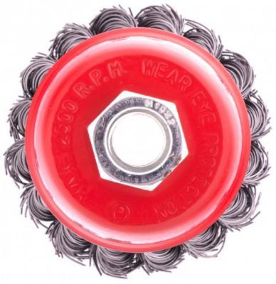 щетка для ушм elitech heavy duty 125 мм м14 чашка 0 5 мм 1820 075600 Щетка для УШМ, 65 мм, М14, чашка, крученая проволока 0,5 мм// Matrix