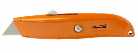 Фото - Нож, 18 мм выдвижное трапециевидное лезвие // Sparta нож складной 200 мм загнутое лезвие деревянная ручка sparta