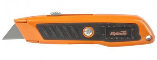 Фото - Нож, 18 мм, выдвижное трапециевидное лезвие, двухкомпонентный корпус // Sparta нож складной 200 мм загнутое лезвие деревянная ручка sparta