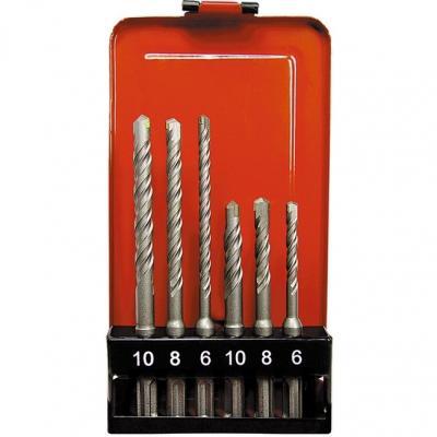 Набор буров по бетону, 6-8-10х110, 6-8-10х160 мм, 6 шт., в пластик. коробке, SDS PLUS// Matrix набор буров по бетону bosch 2608576201 sds plus 7x д арм бетона 6 8 10 мм 3 шт