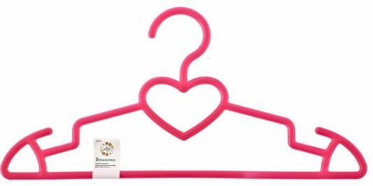 Вешалка пластиковая для верхней одежды 41 см, цветная, сердечко// Elfe гардеробные вешалки для одежды