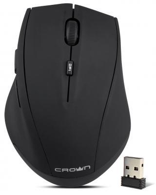 Мышь беспроводная Crown CMM-046W чёрный USB мышь беспроводная crown cmm 928w giraffe белый usb