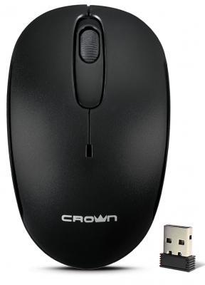 Мышь беспроводная Crown CMM-10W black чёрный USB мышь беспроводная hp 200 silk золотистый чёрный usb 2hu83aa