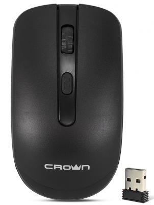 Мышь беспроводная Crown CMM-336W чёрный USB мышь беспроводная crown cmm 928w giraffe белый usb