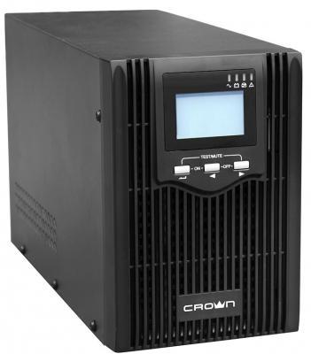 Источник бесперебойного питания Crown CMUS-610 1000VA Черный