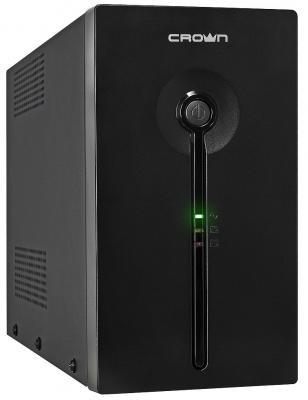 Источник бесперебойного питания Crown CMU-SP1200 EURO USB 1200VA Черный