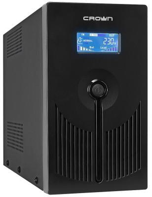 Источник бесперебойного питания Crown CMU-SP1200 EURO LCD USB 1200VA Черный цена