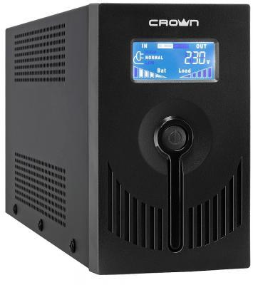 Источник бесперебойного питания Crown CMU-SP650 IEC LCD USB 650VA Черный