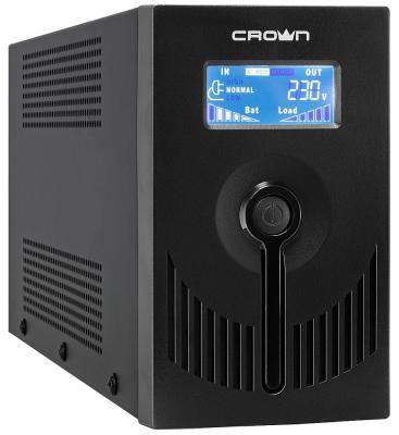Источник бесперебойного питания Crown CMU-SP650 EURO USB LCD 650VA Черный цена