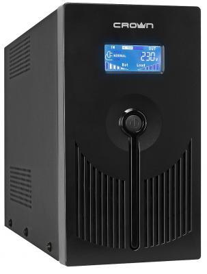 Источник бесперебойного питания Crown CMU-SP800 IEC LCD USB 800VA Черный источник бесперебойного питания crown cmu 1200va lcd euro