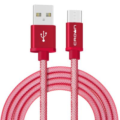 Фото - Кабель Crown USB - USB Type-C CMCU-3072C red; круглый; в прочной нейлоновой оплётке; коннекторы Метал; ток 2А; 100 см; цвет красный велосипед 3 х колесный vip lex 903 2а red красный viplex 903 2а red