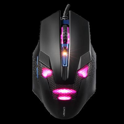 лучшая цена Мышь проводная Crown CMG-04 CYBORG BLUE чёрный USB