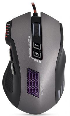 Мышь проводная Crown CMXG-711 TITAN чёрный серый USB