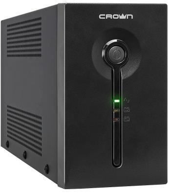 Источник бесперебойного питания Crown CMU-SP650 COMBO USB 650VA Черный