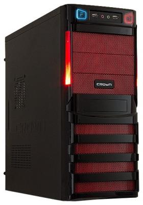 Корпус Miditower CROWN CMC-SM162 USB3.0 black/red ATX w/o цена и фото