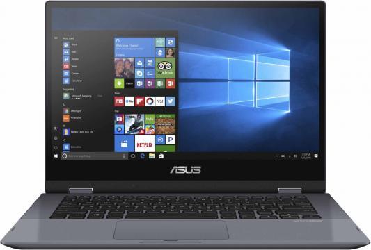 Ноутбук Asus TP412FA-EC111T i3-8145U (2.1)/4G/256G SSD/14.0FHD GL Touch/Int:Intel UHD 620/FPR/Win10 Star Grey, Metal цена
