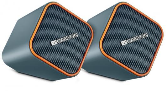 Колонки CANYON CNS-CSP203O Black/Orange (2.5Вx2,USB/DC5V) мышь canyon cns cmsw3 usb black
