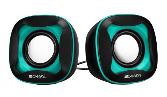лучшая цена Колонки CANYON CNS-CSP202 Black/Green (3Вx2,USB 2.0)