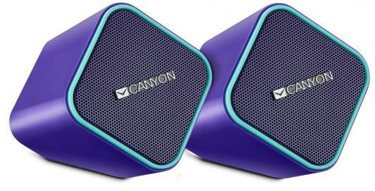 Колонки CANYON CNS-CSP203PU Purple (2.5Вx2,USB/DC5V)