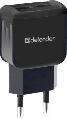Фото - Сетевой адаптер Defender UPC-23 2xUSB,5V/2.1А кабель Type-C зарядное устройство defender upc 21 2xusb кабель microusb 83581