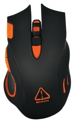 Фото - Мышь игровая, программируемая Corax CANYON <CND-SGM5N> : DPI до 6400 , 7 кнопок, cable length 1.7m, прорезиненная поверхность, черный/оранж corax 1