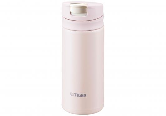 купить Термокружка Tiger MMX-A020 Powder Pink 0,2 л (цвет пудрово-розовый, откидная крышка на кнопке, нержавеющая сталь) по цене 1830 рублей