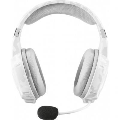 Гарнитура TRUST GXT 322W white camo (гибкий микрофон,Регулятор громкости,отключения микрофона,кабель 2м)