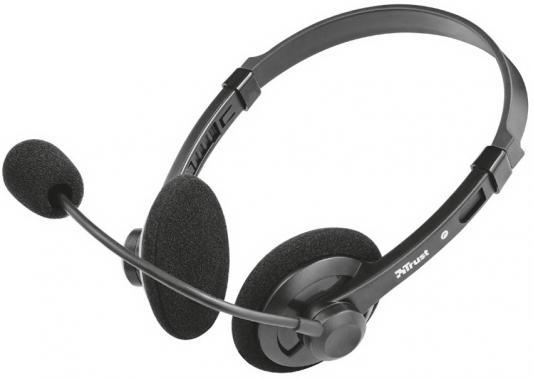 Фото - Гарнитура TRUST LIMA black (гибкий микрофон,регулятор громкости,Mini-jack 3,5 и переходник с разъемом наушники/микрофон для ПК.) переходник