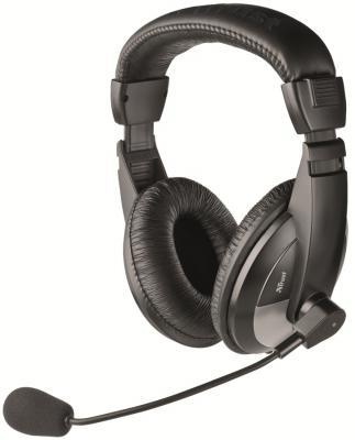 Фото - Гарнитура TRUST QUASAR black (Кабель 1,8м,регулятор громкости. Mini-jack 3,5 и переходник с разъемом наушники/микрофон для ПК.) переходник
