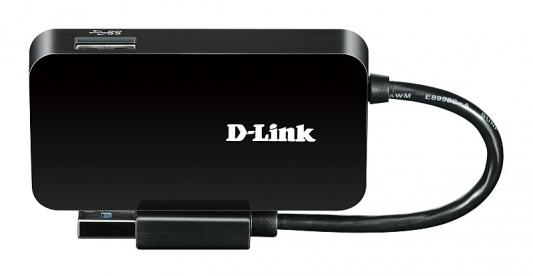Адаптер D-Link DUB-1341/B1A Компактный концентратор с 4 портами USB 3.0 сетевой адаптер usb d link dub e100 b d1a 10 100mbps