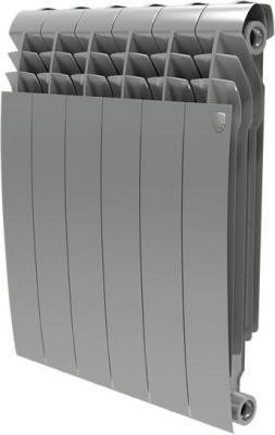 Радиатор Royal Thermo BiLiner 500 /Silver Satin - 10 секц. радиатор биметаллический royal thermo biliner silver satin 500 мм 4 секции 1 боковое подключение серый