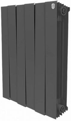 Радиатор Royal Thermo PianoForte 500 new/Noir Sable - 6 секц. биметаллический радиатор rifar рифар b 500 нп 10 сек лев кол во секций 10 мощность вт 2040 подключение левое