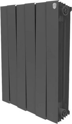 Радиатор Royal Thermo PianoForte 500 new/Noir Sable - 8 секц. биметаллический радиатор rifar рифар b 500 нп 10 сек лев кол во секций 10 мощность вт 2040 подключение левое