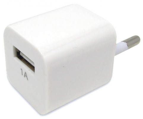 Фото - Сетевое зарядное устройство Auzer AWC1 1A белый зарядное