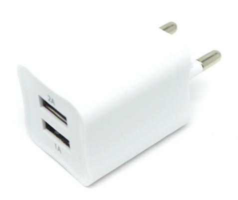 Фото - Сетевое зарядное устройство Auzer AWC2 2А/1А белый зарядное