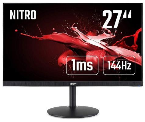 """МОНИТОР 27"""" Acer Nitro XF272UPbmiiprzx Black с поворотом экрана (LED, Wide, 2560х1440, 144Hz, 1ms, 170°/160°, 300 cd/m,"""