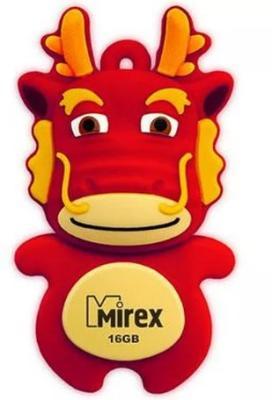Фото - Флешка 16Gb Mirex Dragon USB 2.0 красный флешка mirex dragon 8gb красный