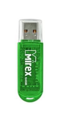Фото - Флеш накопитель 64GB Mirex Elf, USB 2.0, Зеленый флеш накопитель 64gb mirex elf usb 2 0 синий