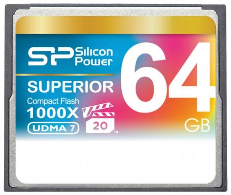 Флеш карта CF 64GB Silicon Power, 1000X