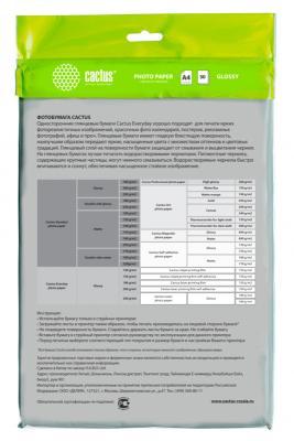 Фотобумага Cactus CS-GA415050ED A4/150г/м2/50л./белый глянцевое для струйной печати цена
