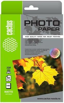 Картинка для Фотобумага Cactus CS-MA6230100 10x15/230г/м2/100л./белый матовое для струйной печати