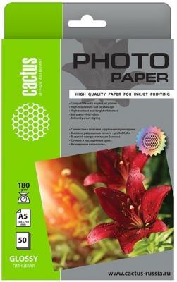 Фото - Фотобумага Cactus CS-GA518050 A5/180г/м2/50л./белый глянцевое для струйной печати фотобумага