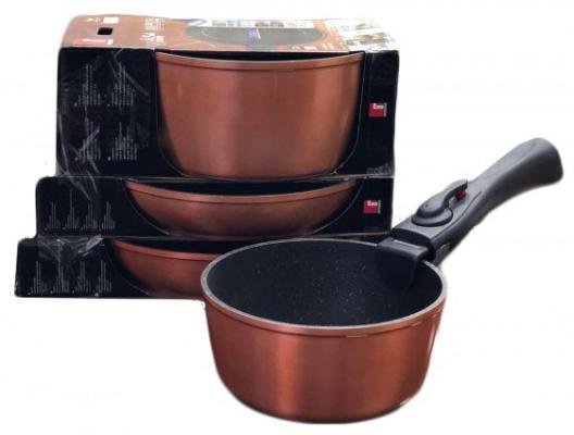 Набор посуды Bergner 8436 CP-BG ковш bergner bg 6239 cp pandora