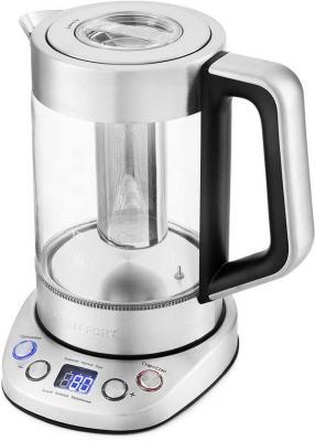 Чайник электрический KITFORT КТ-651 2200 Вт серебристый 1.7 л металл/стекло недорого