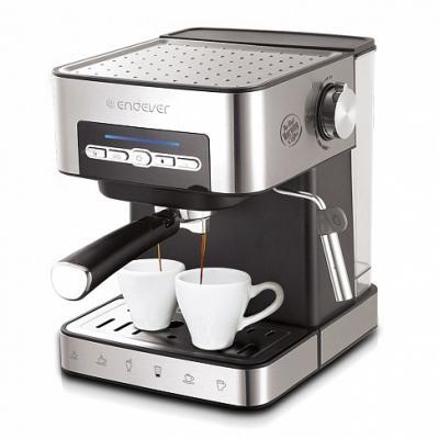 лучшая цена 1065-Costa Электрическая кофеварка рожкового типа Endever объем резервуара для воды 1,6л.