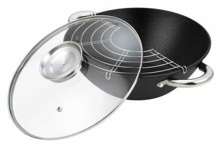 618-BK Котел.чугун. BEKKER 26см. 3.1л(26см), крышка стеклянная с воронкой-дозатором,Состав: чугун.