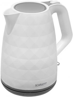 Чайник электрический Scarlett SC-EK18P49 1.7л. 2200Вт белый/серый (корпус: пластик) цена и фото