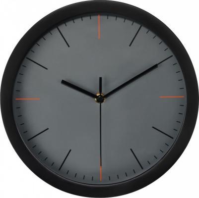 Часы настенные аналоговые Hama MaxR черный/серый