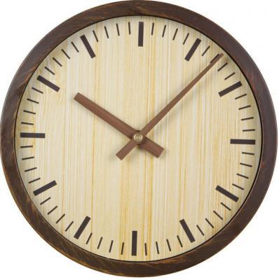 Часы настенные аналоговые Бюрократ Wood WALLC-R60P коричневый